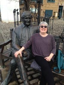 Enjoying some sunshine in Leith!