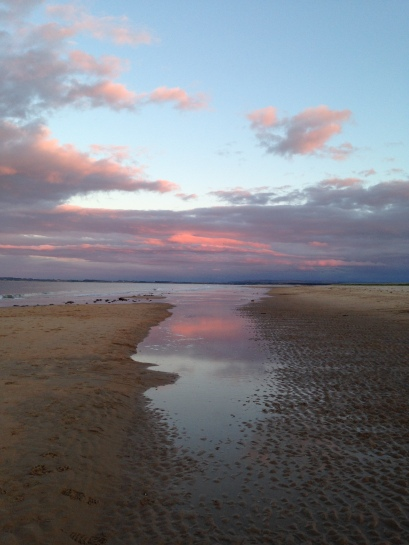Dornoch beach at sunset
