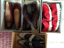 shoes in boxes